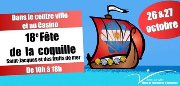 Affiche fête de la coquille St-Jacques à Villers-sur-Mer