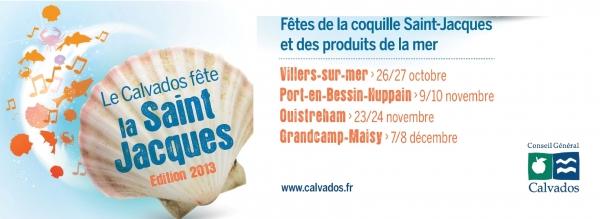 Affiche fête de la coquille dans le Calvados