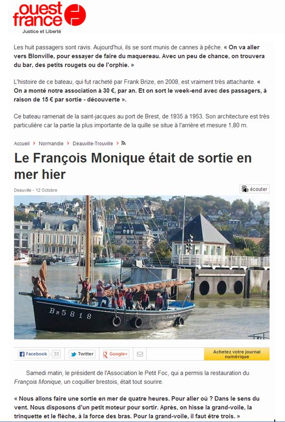 Ouest France 13 oct. 2014