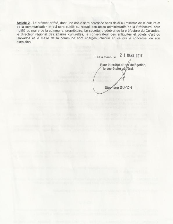 Inscription du FM au itre des monuments historiques c